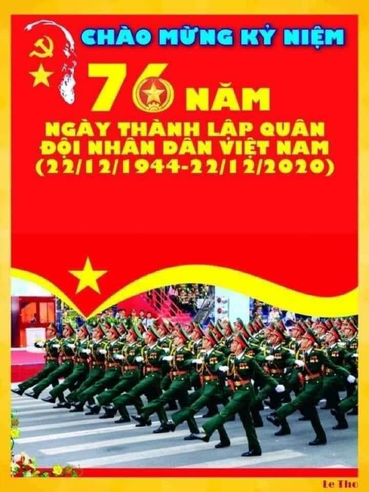 Nhân ngày Kỷ niệm 76 năm ngày thành lập Quân Đội Nhân Dân Việt Nam